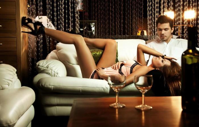 Романтический вечер и секс