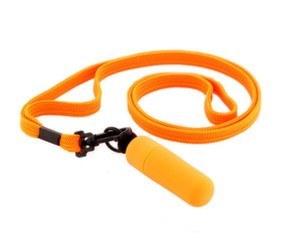 Вибратор-мини с ремешком на шею оранжевый 931010-11