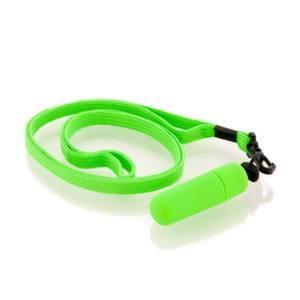 маленький вибратор зеленый с ремешком 931010-7