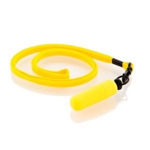 Мини вибратор желтый с ремешком 931010-8