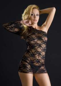 Платье и стринги черные