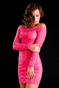 Платье с рукавами и стринги